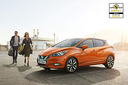 All-new Nissan Micra awarded four and five-star Euro NCAP safety rating